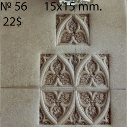 Tool for leather craft. Stamp 56. Size 15x15 mm