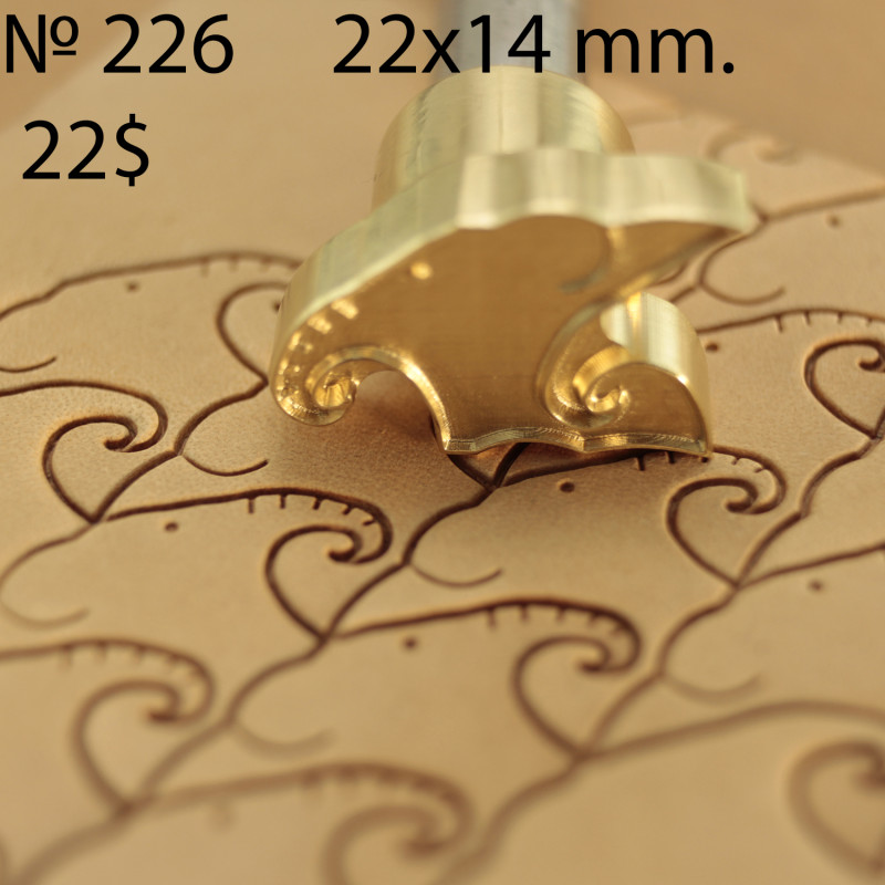 Tool for leather craft. Stamp 226. Size 14x22 mm