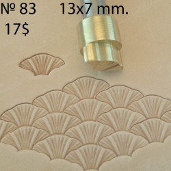 Tool for leather craft. Stamp 83 - Fish scale. Size 7x13 mm