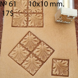 Tool for leather craft. Stamp 61. Size 10x10 mm