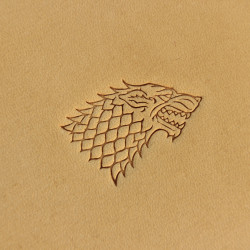 Tools for leather crafts. Game of thrones leather stamp. House Stark logo. Size 14x25 mm