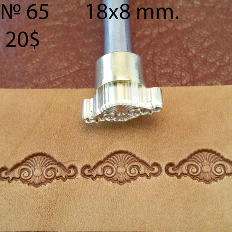 Tool for leather craft. Stamp 65. Size 8x18 mm