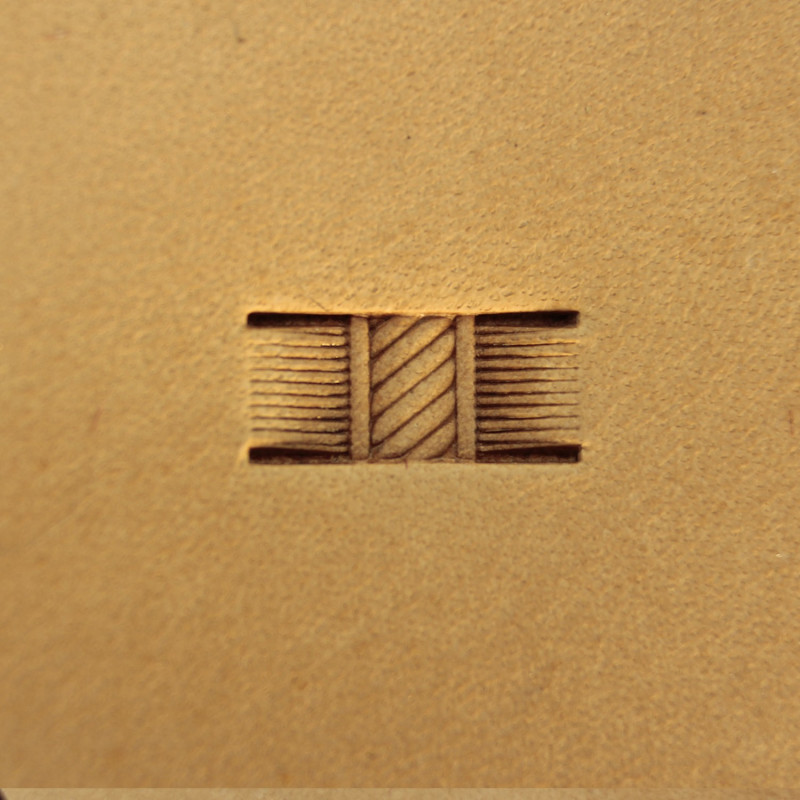 Tool for leather craft. Stamp 113-1. Size 5x10 mm