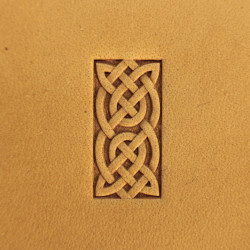 Tool for leather craft. Stamp 242BB. Size 10x21 mm