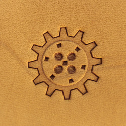 Tool for leather craft. Stamp Steampunk 1. Size 21 mm