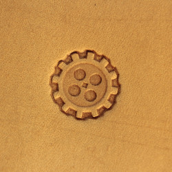 Tool for leather craft. Stamp Steampunk 3. Size 17 mm
