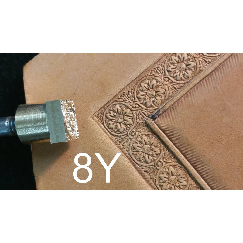 Tool for leather craft. Stamp 8Y - angular stamp for stamp 8. Size 10x10 mm