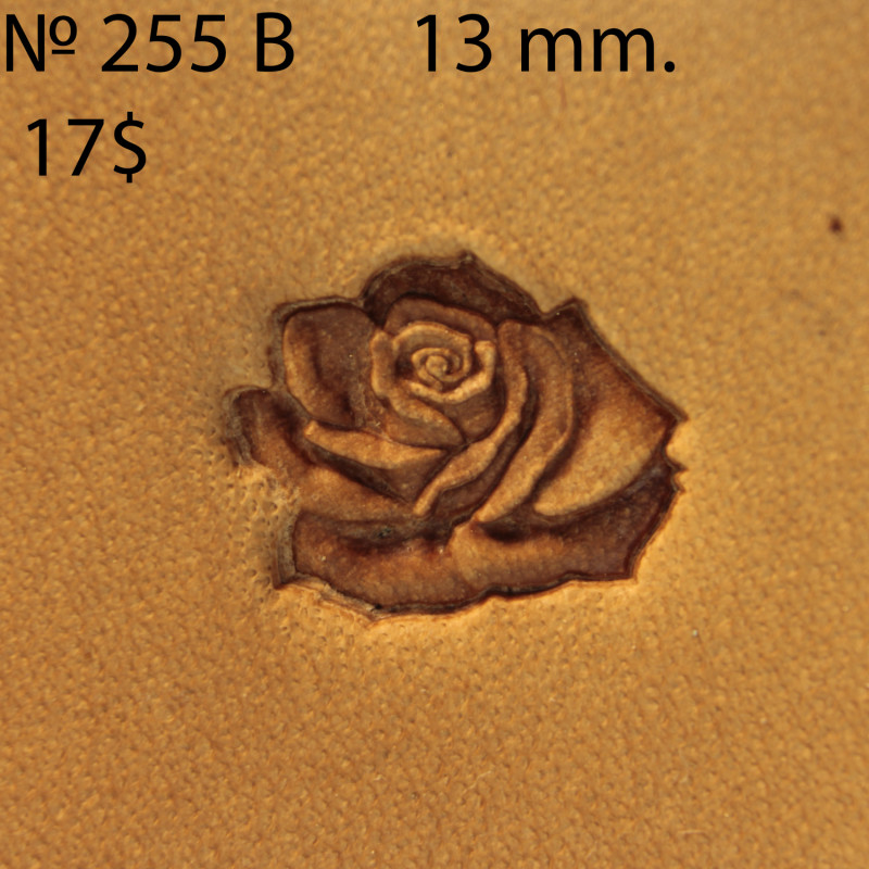Tool for leather craft. Stamp 255B Rose. Size 13 mm