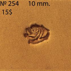 Tool for leather craft. Stamp 255 Rose. Size 10 mm