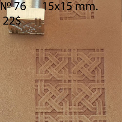 Tool for leather craft. Stamp 76. Size 15x15 mm